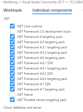 fixing MSB3644 build errors and the point of  NET targeting